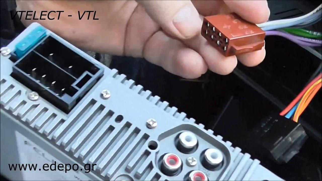 Καλώδιο για να συνδέσετε το τηλέφωνο με το ραδιόφωνο του αυτοκινήτου