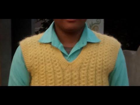 e030de5af Gents Half Sweater Part (3) Armhole Border. Knitting Double Border.