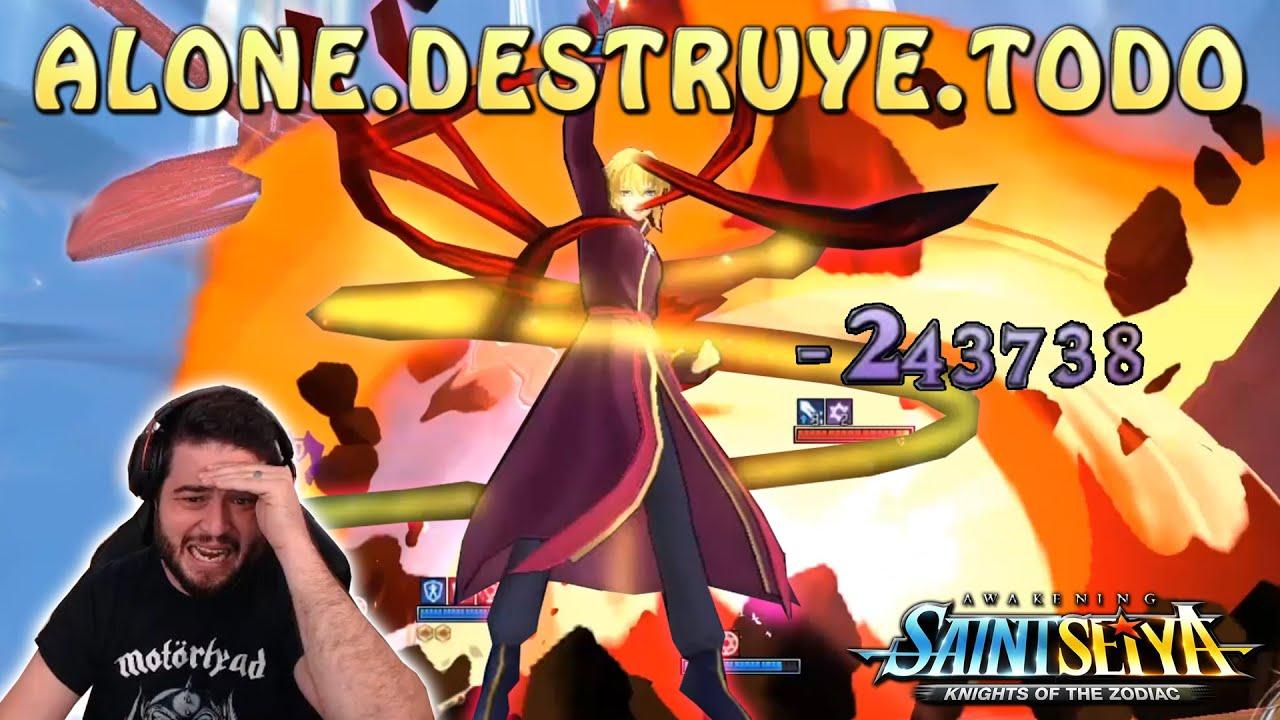 ALONE DESTRUYE TODO EN PVP MELEE!! SHIRYU Y SUS COUNTERS MORTALES! Saint Seiya Awakening