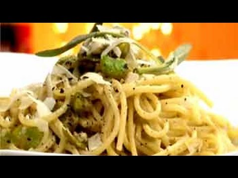 Spaghetti With Broad Beans And Pecorino