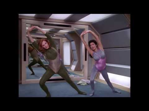 Stretching with Beverly and Troi - in HIGH DEF 1080p!