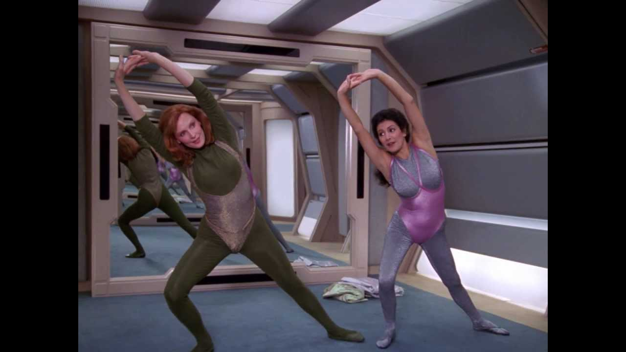 Stretching with Beverly and Troi - in HIGH DEF 1080p! - YouTube