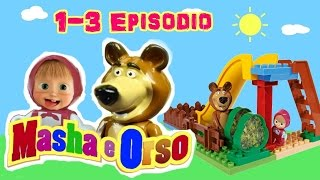 Masha e Orso 3 episodi insieme in italiano -  video con mattoncini PlayBig