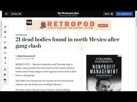 Trump Visits Texas Mexican Border Near 21 Bodies Found!
