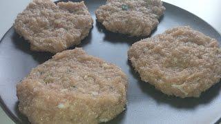 Hamburguesas de pollo caseras riquísimas