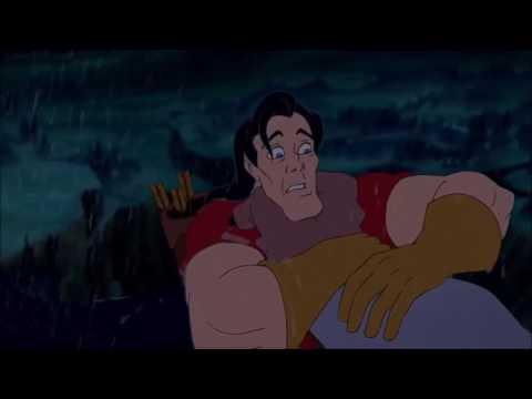 Beauty and the Beast   Gaston vs Beast  Gaston's death  HD