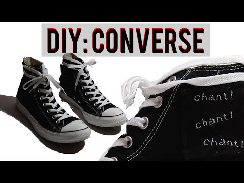 b49546a88fe5 DIY Converse (Chuck Taylor Custom) - YouTube