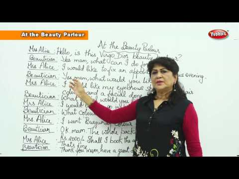 Spoken English Conversations || At the Beauty Parlour || English Basic For Beginners