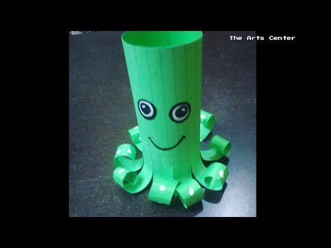 Paper Animal craft for kids/Easy paper Octopus craft tutorial/Summer activities by The Arts Center