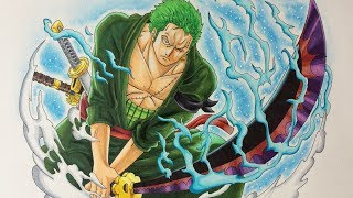 Drawing Roronoa Zoro - After Timeskip
