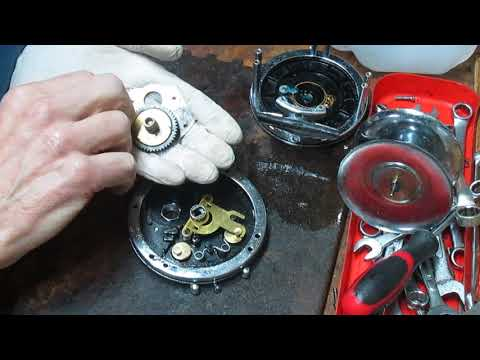 Penn 49 Super Mariner rebuild and servicing including drag washer assembly