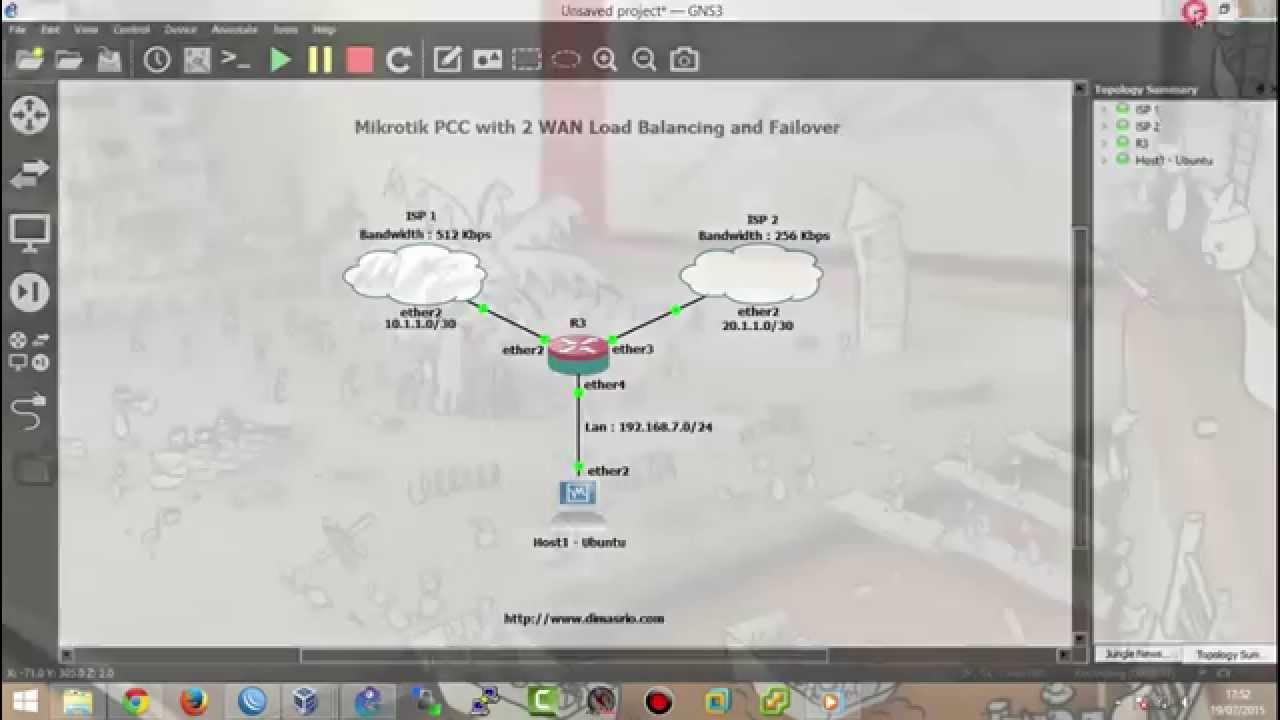 [Lab 8] Mikrotik PCC with 2 WAN Load Balancing and Failover
