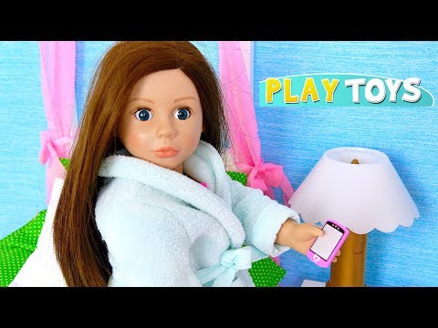 Thumbnail: American Girl Doll Dress up Wardrobe Toys! Baby Doll Clothes Closet Dollhouse Childish Pretend Play!