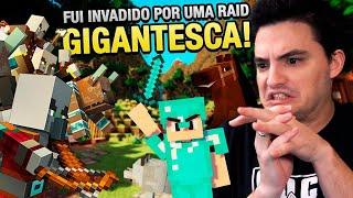FOMOS INVADIDOS POR UMA RAID GIGANTESCA NO MINECRAFT #57