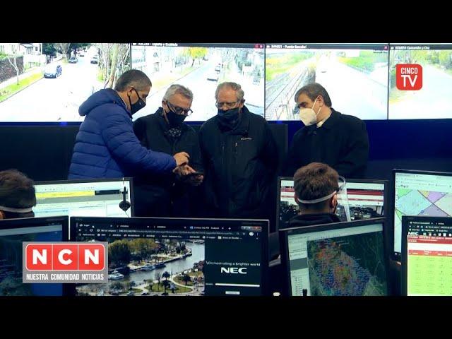 CINCO TV - Monseñor Oscar Ojea recorrió junto a Julio Zamora el el Centro de Aislamiento Covid-19