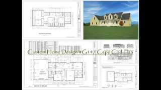 Cape Cod House Plan, Custom Home Design #g147 Cape Cod Plan
