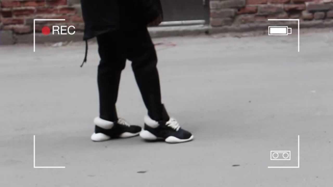 Rick Owens X Adidas Runners On Feet