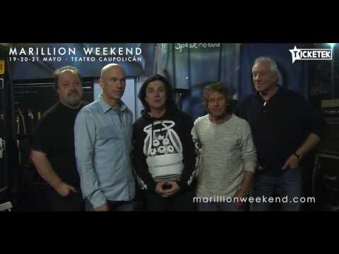 Marillion Weekend Chile 2017: Marillion saluda a los fans!