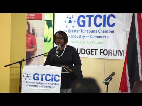 Minister Regis Presentation at Post Budget Forum GTCIC
