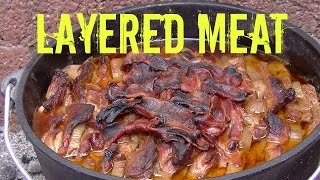 """Layered Meat"" made in the Dutch Oven - German Schichtfleisch Recipe"