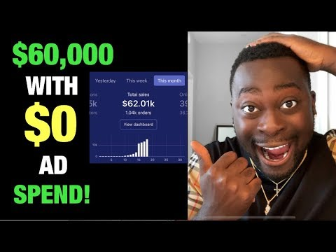 $60,000 in 6 DAYS with $0 Ad Spend on my Shopify Dropshipping Store! [SECRET METHOD] thumbnail