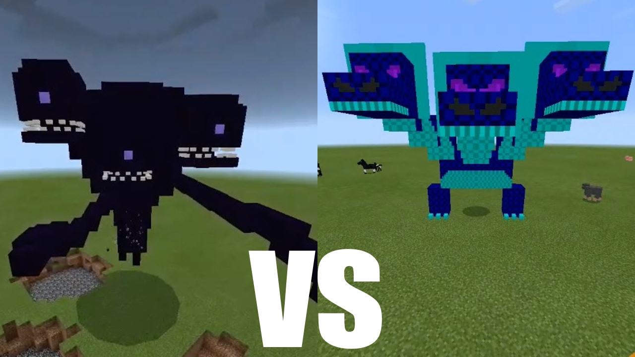 Hydra Dragon Boss Vs Wither Storm In Minecraft Pe Mcpe Journalist