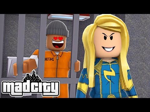 I FELL IN LOVE WITH A SUPERHERO IN ROBLOX MAD CITY - Roblox Roleplay