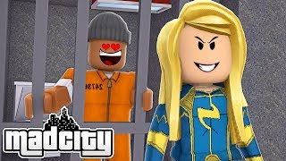 I FELL IN LOVE WITH A SUPERHERO IN ROBLOX MAD CITY - Roblox Rollenspiel