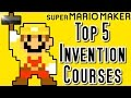 Super Mario Maker TOP 5 MOST ORIGINAL Courses (Wii U)
