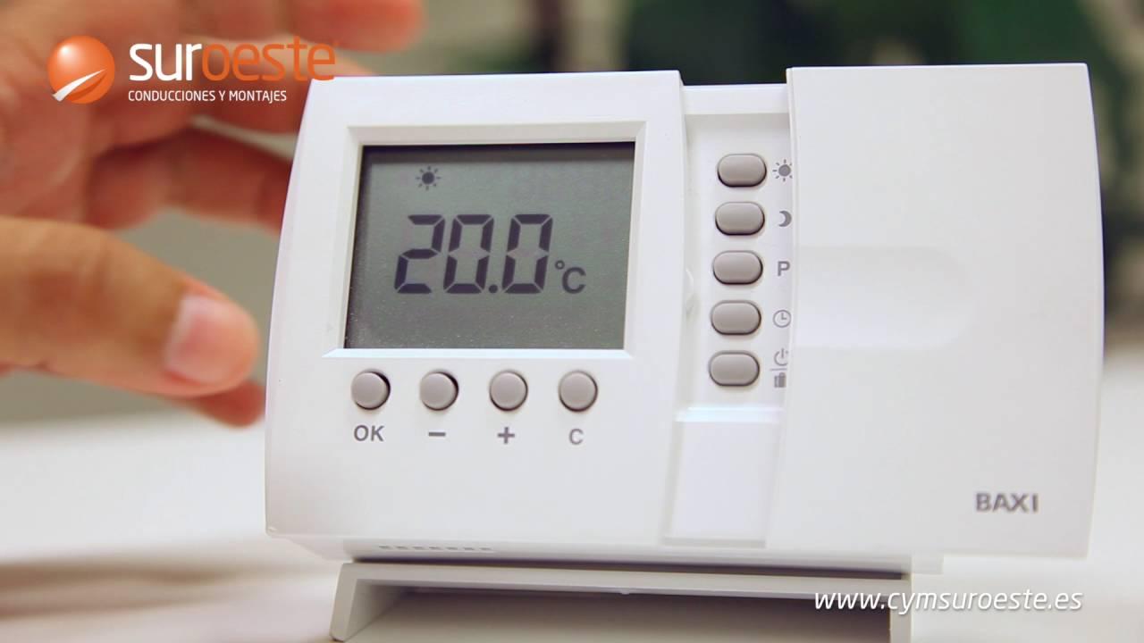 tutorial termostato baxi roca inal mbrico conducciones y
