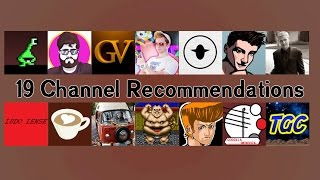 Watching Youtube: 19 Channel Recommendations