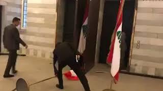 رئيس الحكومة اللبنانية يعاين الأضرار في السراي الحكومي بعد الانفجار...فيديو
