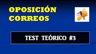 Test teórico oposición Correos #3 - Paquetería