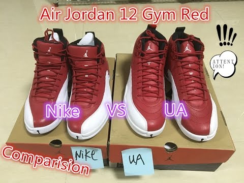 finest selection 069cf 07844 Comparision Air Jordan 12 Gym Red Authentic Version vs Unauthorized Version