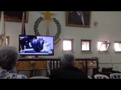 POPE FRANCIS WELCOMED BY MAHMOUD ABBAS, HEAD OF PALESTINIAN