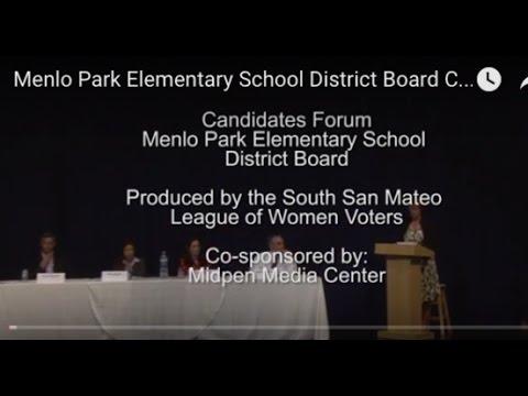 Menlo Park Elementary School District Board Candidate Forum