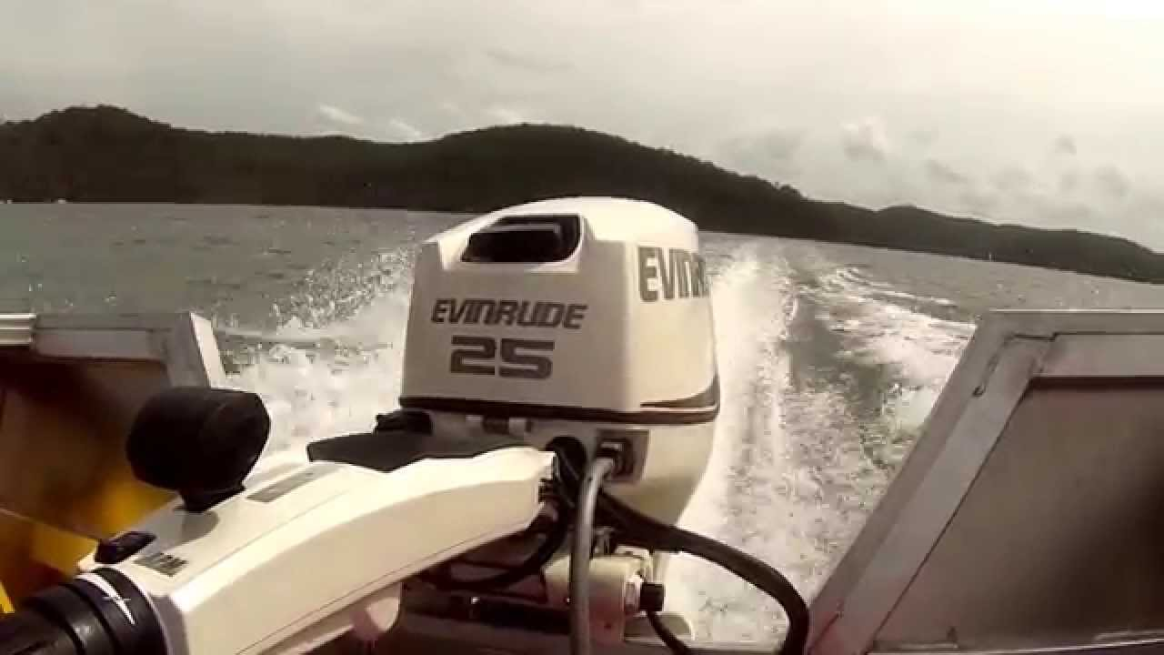 Evinrude Etec 25hp Outboard Motor - WOT Wind Chop