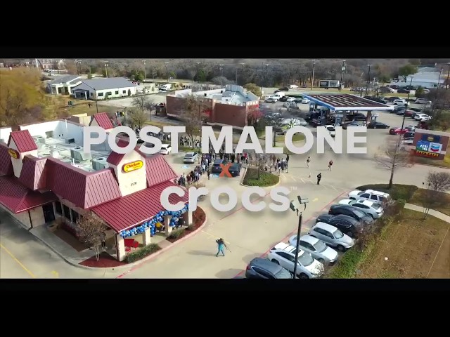 #PostMaloneXCrocs at Chicken Express