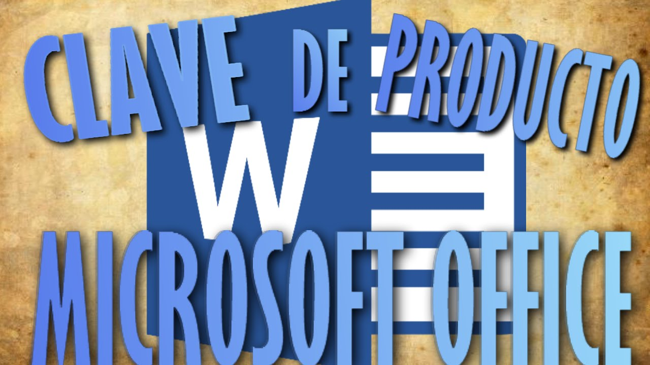 Clave de producto Microsoft Office Word - YouTube