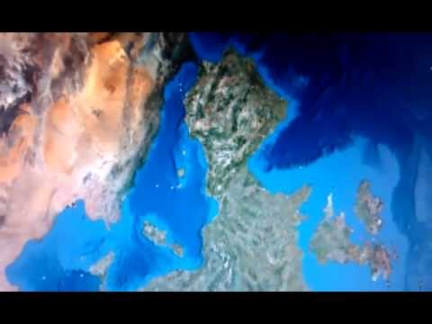 Google Earth Map Of Spain.Google Earth Spain As A Face With Horns And Tail With Uk As An Arm
