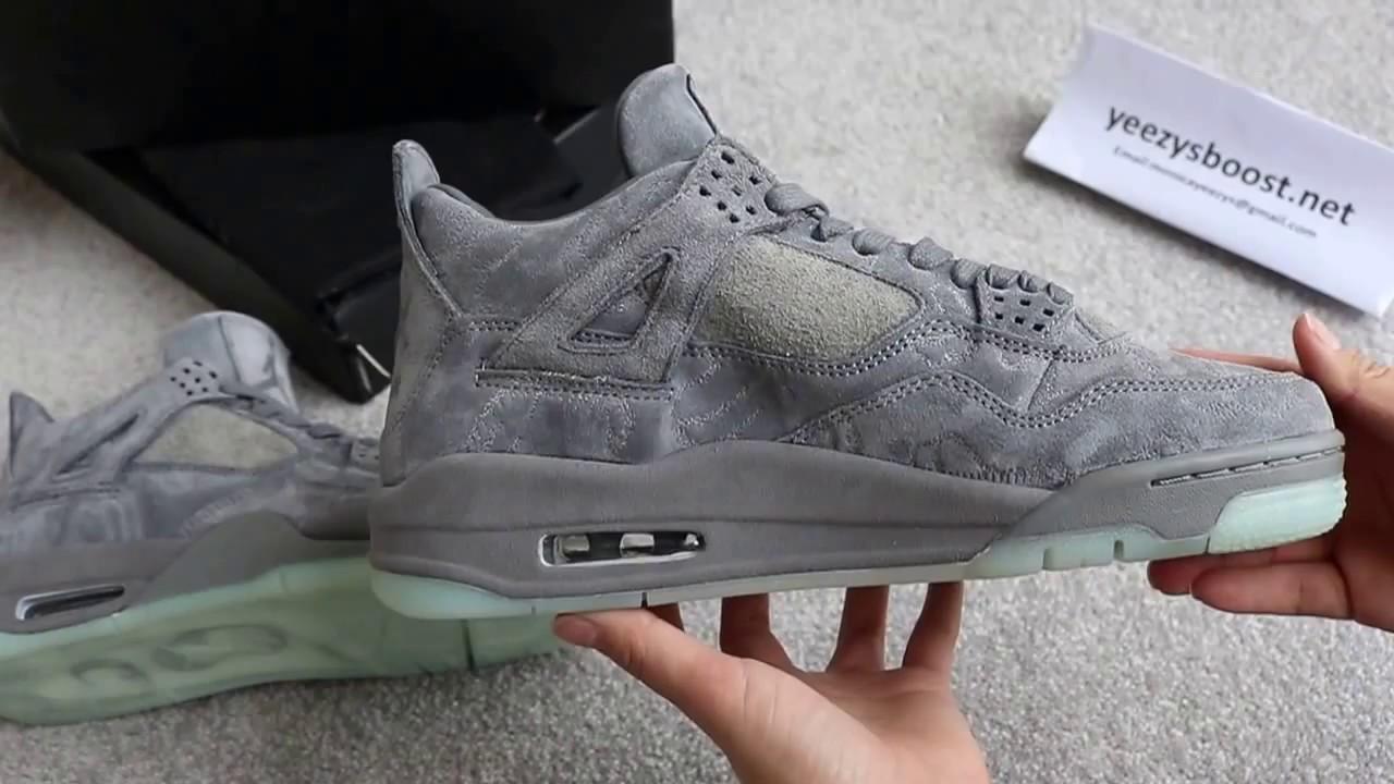 5f142bdf3d4 Air Jordan 4 Retro KAWS Cool Grey From YeezysBoost Net - YouTube