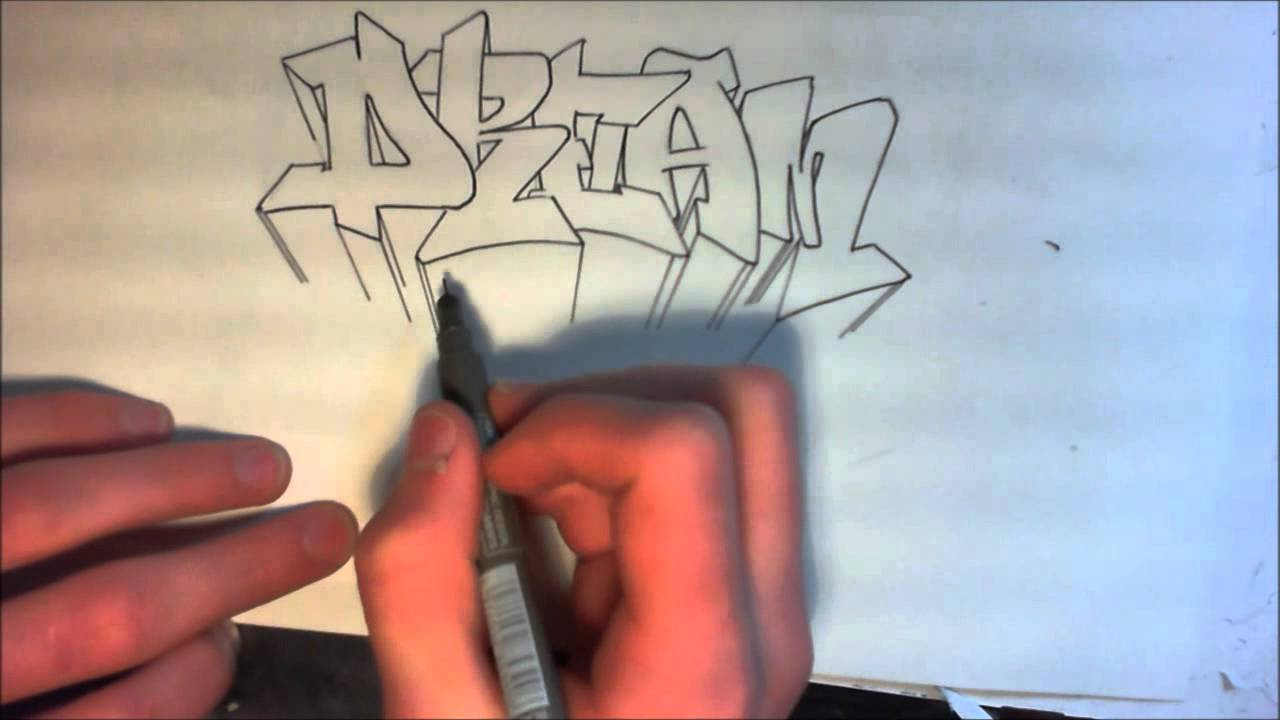Tutorial graffiti comment faire la 3d sur un graff debutants francais hd youtube