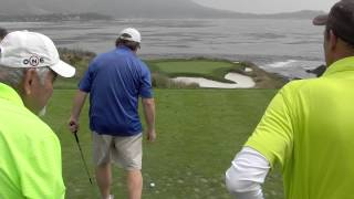 First Timers at Pebble Beach hole #7