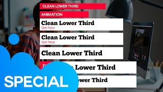 Clean Lower Thirds (Free Download) | After Effects Template