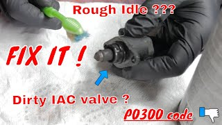 How to fix a rough idle/clean, replace IAC valve and the P0300 code