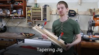 Table Saw Tapering Jig - Woodworking Guide