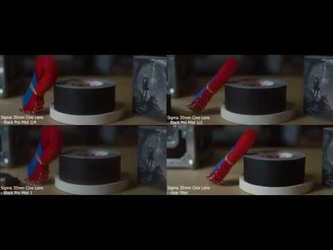 BLACK PRO MIST FILTER COMPARISON WITH SIGMA CINE LENS 35MM ON RED RAVEN 4K