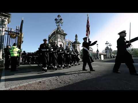 Royal Navy makes history at Buckingham Palace