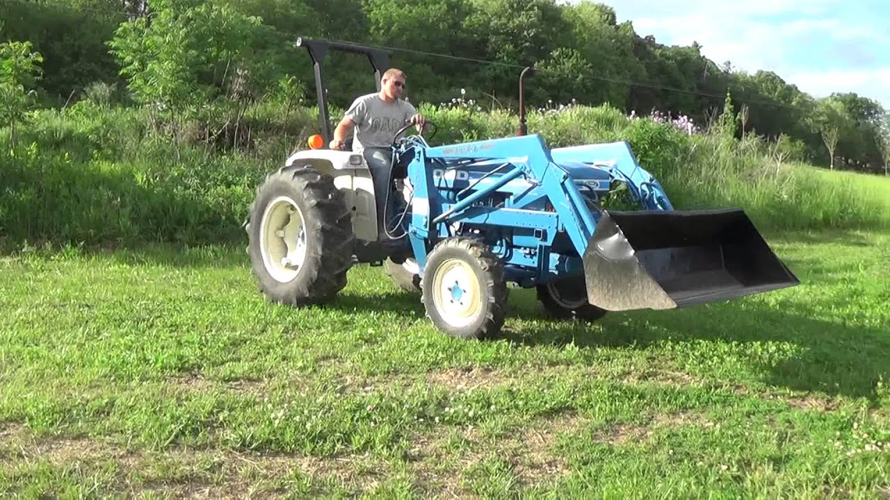 Ford 1720 Tractor Wiring Diagram Ford 1910 4x4 Compact Tractor With Front End Loader Youtube