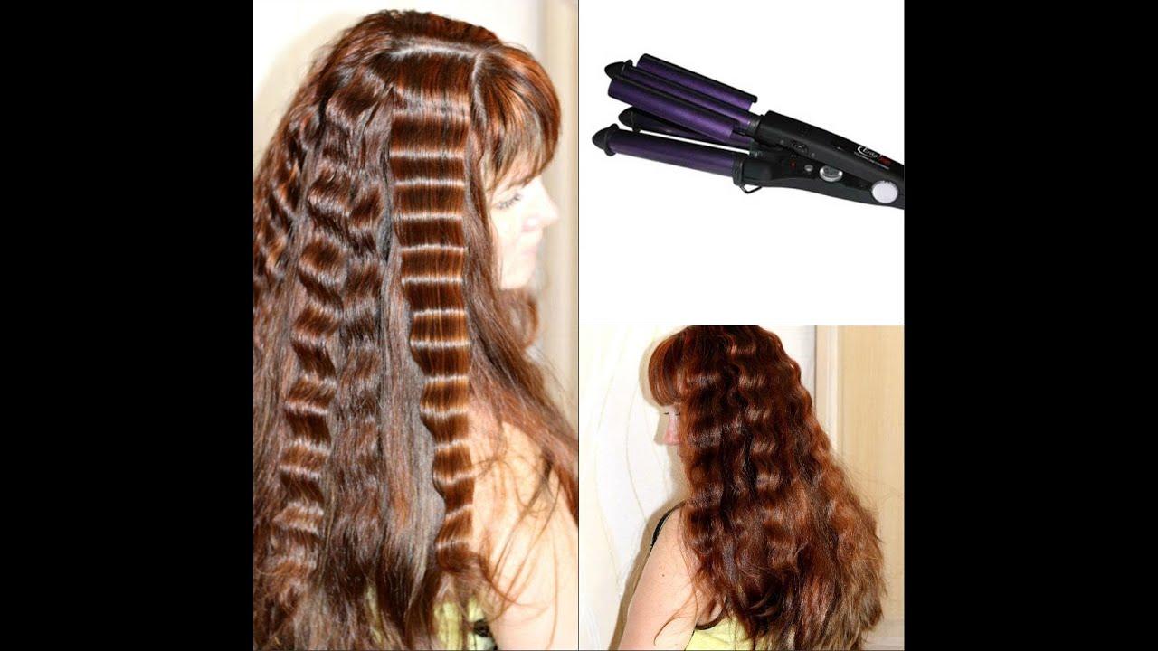 Двойная плойка для волос фото